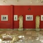 Τα ψηδιδωτά της Δάφνης Αγγελίδου στο αίθριο του Εθνικού Αρχαιολογικού Μουσείου Αθηνών