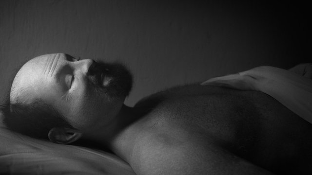 Mounir Fatmi, Sleep - Al Naim, 2005 - 2012, HD, B&W, stereo, 6 Hours, Edition 3/5
