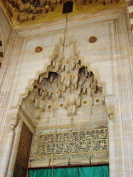 Μουκάρνας στο τέμενος Σουλεϊμανίγιε της Κωνσταντινούπολης