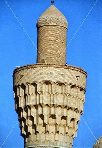 Μιναρές με μουκάρνας του Σουκ Αλ Γκαζάλ, Βαγδάτη, Ιράκ (13ος αιώνας).