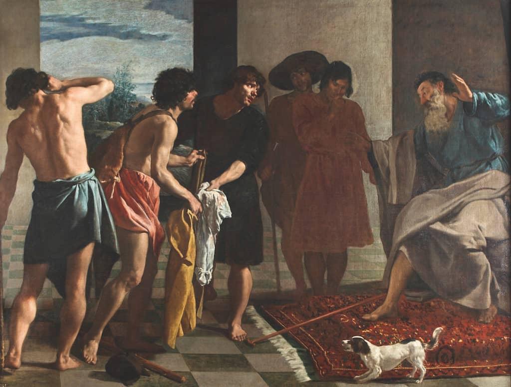 Diego Velázquez, La tunique de Joseph, vers 1630, huile sur toile, 213,5 x 284 cm, Madrid, Real Monasterio del Escorial