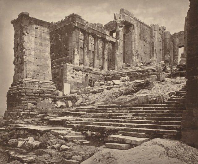 Τα Προπύλαια από τη νοτιοδυτική πλευρά, 1882